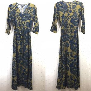 Anthropologie Rinku Dalamal Mabli Maxi Dress Sz 8